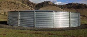 corrugated steel water tank