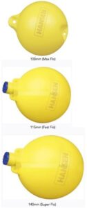 max flo ball float high visibility